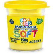 Massa de Modelar Acrilex Base Amido Soft Pote 150G Amarelo 102 19863