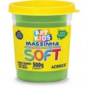 Massa de Modelar Acrilex Base Amido Soft Pote 500G Verde 101 07306 25080