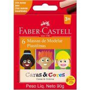 Massa Modelar Faber-Castell Caras e Cores 6 22.0306Cc 28057