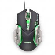 Mouse Gamer Multilaser 2400 Dpi USB Preto Grafite MO269 29932