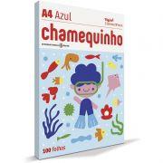 Papel A4 Chamequinho Azul 75G com 100 Fls 15654