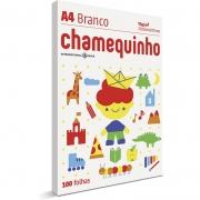 Papel A4 Chamequinho Branco 75G com 100 Fls 15652