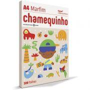 Papel A4 Chamequinho Marfim 75Grs com 100 Fls 15655