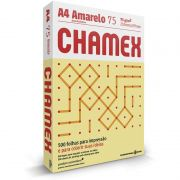 Papel A4 Chamex Colors Amarelo 75G com 500 Fls 15647