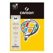 Papel Canson Color Amarelo 180G/M2 A4 210X297mm 10 Fls 66661189 27870