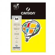 Papel Canson Color Amarelo Canario 180G/M2 A4 210X297mm 10 Fls 66661188 27869