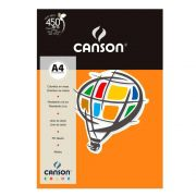 Papel Canson Color Cenoura 180G/M2 A4 210X297mm 10 Fls 66661190 27871