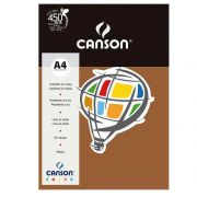 Papel Canson Color Chocolate 180G/M2 A4 210X297mm 10 Fls 66661273 27886