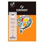 Papel Canson Color Laranja 180G/M2 A4 210X297mm 10 Fls 66661192 27872