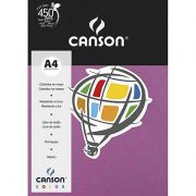 Papel Canson Color Malva 180G/M2 A4 210X297mm 10 Fls 66669807 27899