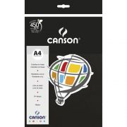Papel Canson Color Preto 120G/M2 A4 210X297Mm 15 Fls 66661237 28266