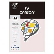 Papel Canson Color Rosa Claro 120G/M2 A4 210X297mm 15 Fls 66661221 27884
