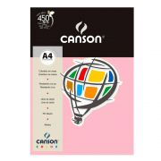 Papel Canson Color Rosa Claro 180G/M2 A4 210X297mm 10 Fls 66661195 27873