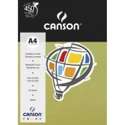 Papel Canson Color Verde Kiwi 180G/M2 A4 210X297mm 10 Fls 66669810 27902