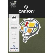 Papel Canson Color Verde Safari 180G/M2 A4 210X297mm 10 Fls 66669811 27903