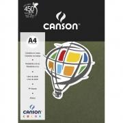 Papel Canson Color Verde Safari 180G/M2 A4 210X297mm 10 Fls 66669811 27903