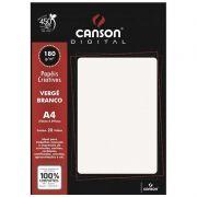 Papel Canson Verge Branco 180G/M2 A4 20 Fls 66668766 27896