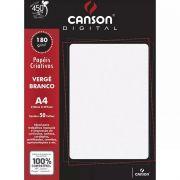 Papel Canson Verge Branco 180G/M2 A4 50 Fls 6666866 27898