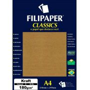 Papel Classics Filipaper Kraft Natural A4 180G 50 Folhas 00942 25327