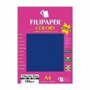 Papel Filipaper Filicolor Plus Azul A4 180Gr. 20Fls 02389 25325