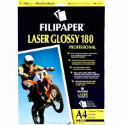 Papel Glossy Filipaper Laser Pro 180Gr A4 com 30Fls 02511 11365