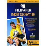 Papel Glossy Ink Jet 150G A4 com 50 Fls 02553 Filipaper 11366