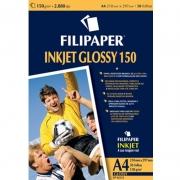Papel Glossy Inkjet Brilho A4 150G com 10 Fls Filipaper 23046