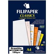 Papel Granitto Natural A4 180G 50 Fls 00989 Filipaper 02240