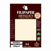 Papel Metallics Filipaper Dourado A4 180Gr. 15 Fls 01102 23934