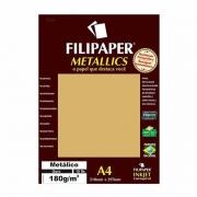 Papel Metallics Filipaper Ouro A4 180Gr. 15 Fls 01100 23933