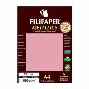 Papel Metallics Filipaper Perola Rosa A4 180Gr. 15 Fls 01104 23932