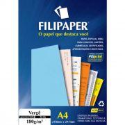 Papel Vergê Azul Claro A4 180G com 50 Fls 00995 Filipaper 10751