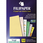 Papel Verge Creme A4 120G 30 Fls 01873 Filipaper 08800