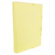 Pasta Aba / Elástico Dello Oficio PP Serena Amarelo Pastel 0249.Ap.0050 26299