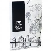 Pasta Aba Elástico Ofício Dello Mundi New York Oficio PP 0261.P.0025 24573