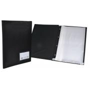 Pasta Catálogo ACP 245X335 com 30 Env Plast 0,06 com Visor Preta  123 13493