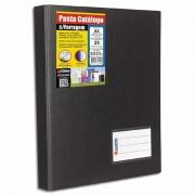 Pasta Catalogo Chies A4 25 Fls + 2 Porta Cartões Preta 1169-0 08266