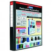 Pasta Fichário Personalizavel A4 Preta para 200 Fls 4 Arg. 1399 Chies 08274