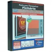 Pasta Fichário Personalizavel Preta A4 para 200 Fls 2 Arg. 1712 Chies 11793