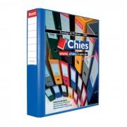 Pasta Fichário Personalizavel A4 Azul Royal Jumbo para 420 Fls 4 Arg. 1402 Chies 10929
