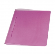 Pasta Dobrada Dello Plast Rosa PP com Grampo Plastico 0291.Q 07992