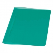 Pasta Dobrada Plast Verde Em PP com Grampo Plastico 0291T Dello 07993