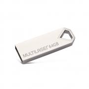 Pen Drive Multilaser 64GB Diamond Metálico 852 30215