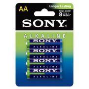 Pilha Alcalina Aa Sony  Com 4 Am3L-B4D 24285