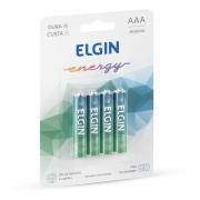 Pilha Elgin Alcalina Palito AAA 4 Un. 82155 16021