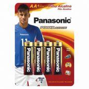 Pilha Panasonic Alcalina Pequena AA 4 Un. 10409