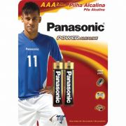 Pilha Panasonic Alcalina Palito AAA 2 Un. 10410