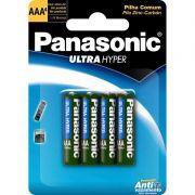 Pilha Panasonic Super Hyper Palito AAA 4 Un. R03UAL/4B400 17117