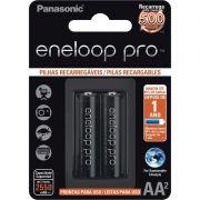 Pilha Panasonic Eneloop Pro Recarregável Pequena AA 2 Un. BK-3HCDE/2BB 25003