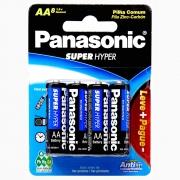 Pilha Panasonic Super Hyper Stand Palito AA 8 Un. UM-3SHSl8P6 29998